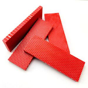 Red Honeycomb Knife Handle Scales Slabs Resin DIY Making Material Blanks Supply