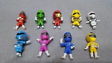 "LOT of 9 Bandai POWER RANGERS Keychain Gashapon 1.5"" Mini Figures Kids Toys Gift"