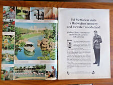 1966 Budweiser Beer Ad Ed McMahon Visits Busch Gardens in California