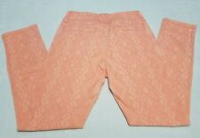 NWT Size 0R Womens American Eagle Stretch Jeggings Peach Jeans Denim Printed #6