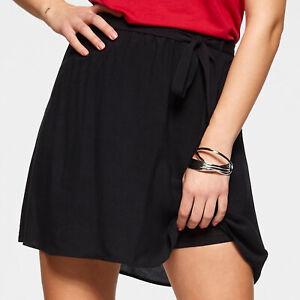 zeitloser Marken Mini ROCK Gr.36 S A-Linie Web elasthische Taillie schwarz