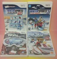 Nintendo Wii Wii U Games LOT Winter Sports 2, 3, We Ski, Shaun Snowboarding
