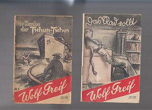 Wolf Greif Original 1939 Nr. 8 + 9  (Nachfolgeserie von Tom Shark)