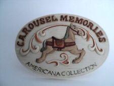 Carousel Memories Americana Collection Dealer Collector Display Plaque Porcelain