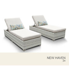 New Haven Chaise Set of 2 Outdoor Wicker Patio Furniture