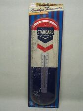 Vintage Gas Oil Thermometer ( new reproduction ) Standard Station mib moc mip