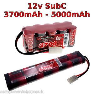 12V 3700-5000mAh SubC SC Premium Racing RC NiMh battery pack + custom connector