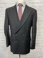 JOSEPH ABBOUD Men's Charcoal 100% Wool Peak Lapel Blazer Sport Coat 40R