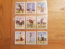 Full Set Of Wills Famous Golfer's very good condition.