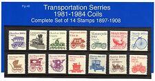 Transportation Series 1981-84 14 Stamps 1897-1908 MNH Pg-46