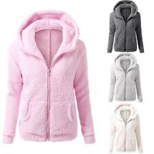 PLUS Size donne Addensare Fleece Pelliccia Caldo Inverno Parka con cappuccio Cappotto/Outwear