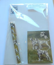 Ruth Maystead Gift Pack playing cards, pen, note pad, Dalmation dogs