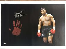 Mike Tyson Original Hand Print Unstretched 20x36 Canvas Signed JSA Full Letter