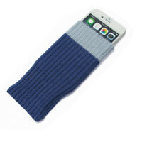 Purple Sleeve Cloth Sock Bag Case Cover For  iPhone 5 5S SE 5C