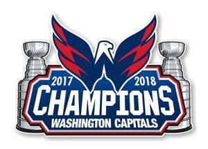 Washington Capitals 2018 Stanley Cup Champions Decal / Sticker Die cut