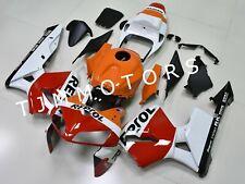 For CBR600RR 2005 2006 ABS Injection Bodywork Fairing Kit Orange White Repsol