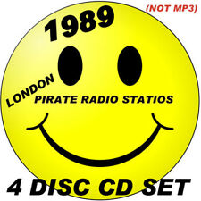 RAVE   ACID HOUSE   4 DISC CD SET   OLD SKOOL   1989 PIRATE RADIO STATIONS