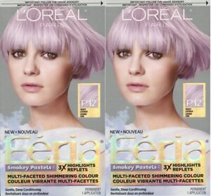 2 x L'Oreal Paris Feria Smokey Pastels 3X Highlights Smokey Lavender Dusk P12