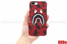 A Bathing Ape Bape ABC Camo Shark Phone Case Cover For iPhone X 8 7 Plus 6 6S