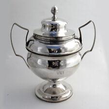 Federal Sugar Bowl Acorn Finial David Weatherly Coin Silver 1815 Mono WMS