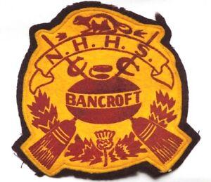 RARE Curling Patch - N.H.H.S. BANCROFT