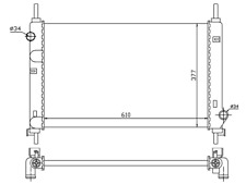 Kühler Wasserkühler Ford Mondeo I Combi Mondeo II 1,6i 1,8i 2,0i