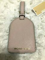 Michael Kors Jet Set Travel Saffiano Leather Luggage Tag Soft Pink / Ballet New