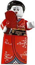 RARE Lego Minifig series 4 Geisha Girl japanese Kimono fan suit castle / ninjago