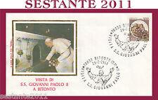 VATICANO FDC ROMA VISITA PAPA GIOVANNI PAOLO II A BITONTO BARI 1984 (608)