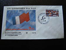 FRANCE - enveloppe 21/12/1990 27e congres du PCF (cy7) french (H)