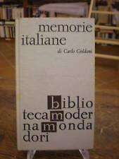 (STORIA - BUM) GOLDONI: MEMORIE ITALIANE
