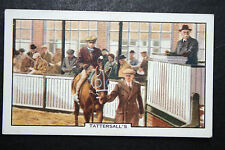Horse Sales  Tattersall's   Vintage Picture Card  ## VGC
