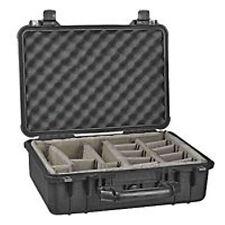 Pelican 1504 Case Cases Black w/ Dividers 18.5 x 14 x 7