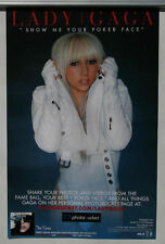 """LADY GAGA Poker Face """"Show Me Your Poker Face"""" 2008 POSTER 17x11"""