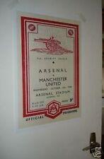 Arsenal Art Deco PLAKAT Manchester United 1940er jahre Reproduktion Plakat