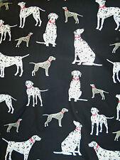 Dalmatians on Black Quilt Fabric