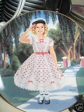 Danbury Mint 1991 Shirley Temple Littlest Rebel Ltd Ed Plate