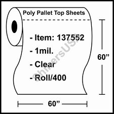 "1 mil Poly Sheets 60""x60"" Clear - Roll/400 (137552)"