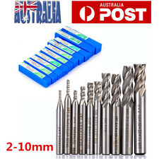 10x Hss-al Carbide End Mill CNC Tools 4 Flute Milling Drill Bit Cutter 2-10mm AU