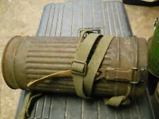 WWII German Gas Mask Can WITH NAME