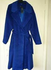 M&S Blue Cobalt Coat with wool size UK 18 Eur 46, new