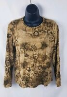 Women's Jones New York Signature Long Sleeve Knit Top Size Medium
