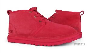 UGG Neumel Samba Red Suede Fur Shoes Womens Size 9 *NEW*