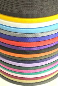16mm Polypropylene Webbing 1m 2m 5m 10m 25m 50m In 20 Colours Bags Straps Leads