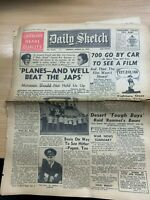 """WW2 """"GENERAL SIR WAVELL ON BURMA"""" THE DAILY SKETCH NEWSPAPER 23 MARCH 1942"""