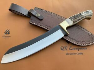 Custom D2 Steel Machete knife, Hunting ,Stage ,Bowie, Bushcraft, camping knife