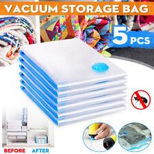 5PCS /set Space Saver Vacuum Storage Bag Dustproof Clothes Quilts Organizer Dorm