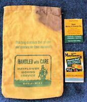 Vintage Advertising Collectibles MAYFLOWER MOVING Co. Linen Screws Bag Matchbook