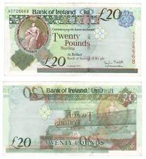 Bank of Ireland £20 *ERROR* Banknote (overprint on reverse)