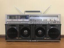 Sharp gf-777 Vintage Stereo Ghettoblaster. voll funktionsfähig. + Video Arbeit